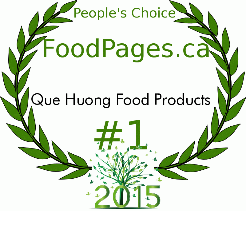 Que Huong Food Products FoodPages.ca 2015 Award Winner