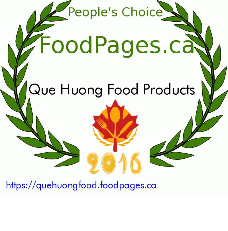 Que Huong Food Products FoodPages.ca 2016 Award Winner