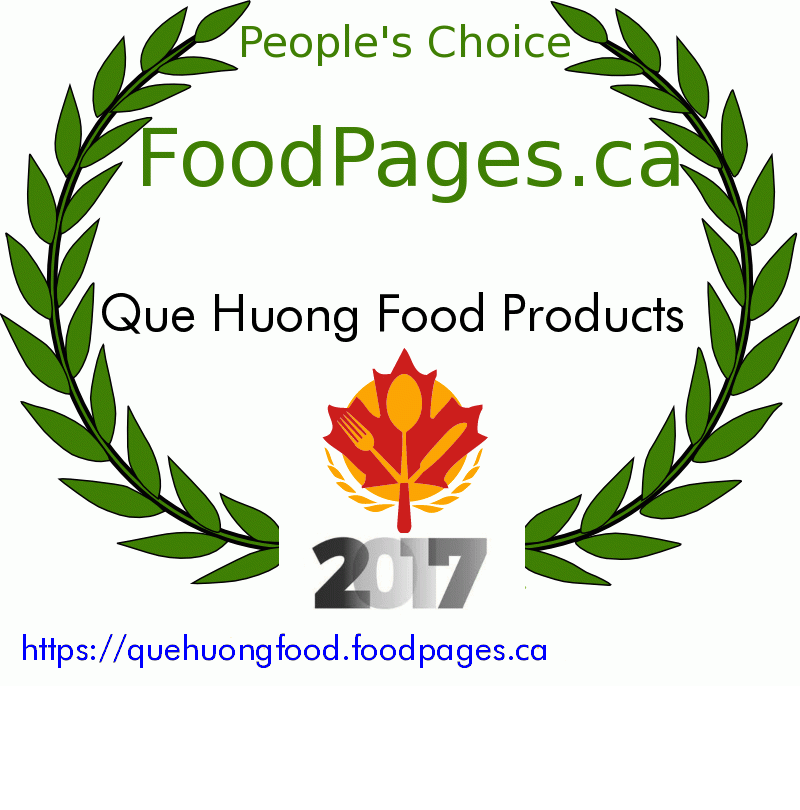 Que Huong Food Products FoodPages.ca 2017 Award Winner